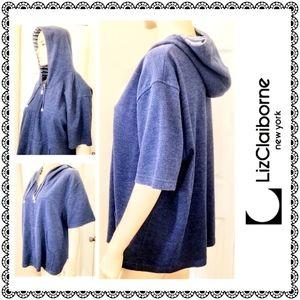 {Liz Claiborne - Villager Sport} blue hoodie sz 3X